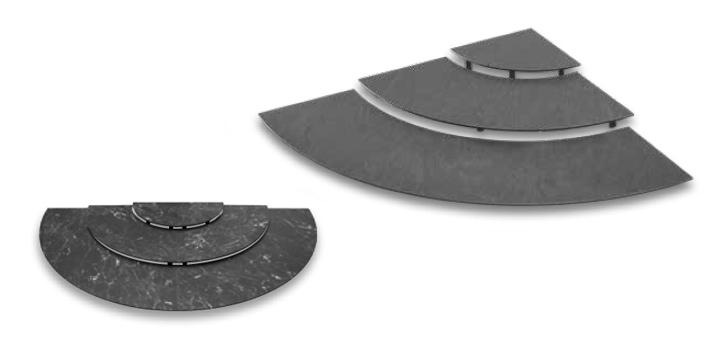 Bogen-stufen-Set Kreis